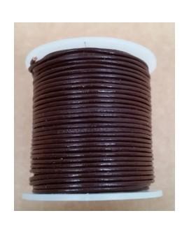 Rollo 25 mts. Cordón Cuero Importación 1 mm. BURDEOS. Ref 22145