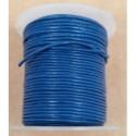 Rollo 25 mts. Cordón Cuero Importación 1 mm. SKY BLUE. Ref 22150
