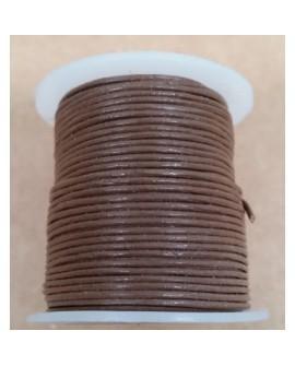 Rollo 25 mts. Cordón Cuero Importación 1 mm. COÑAC. Ref 22152