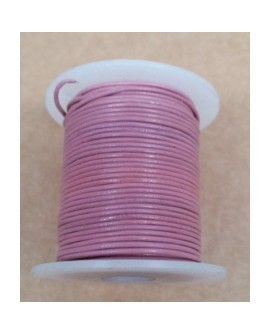 Rollo 25 mts. Cordón Cuero Importación 1,5 mm. ROSA. Ref 22166