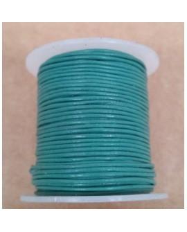 Rollo 25 mts. Cordón Cuero Importación 1,5 mm. TURQUESA. Ref 22167