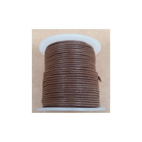 Rollo 25 mts. Cordón Cuero Importación 1,5 mm. COÑAC. Ref 22172