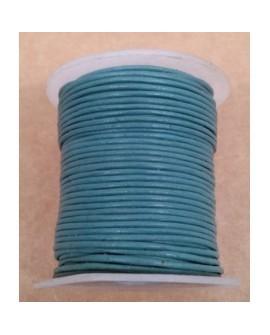 Rollo 25 mts. Cordón Cuero Importación 1,5 mm. GRIS AZULADO. Ref 22174