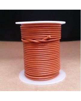 Rollo 25 mts. Cordón Cuero Importación 2 mm. NARANJA. Ref 22188