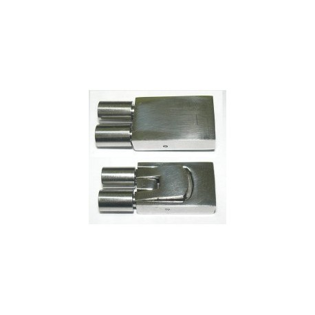 Cierre Acero de 2 Tubos de 3,5 mm 25,5 x 11 mm. Ref 24537