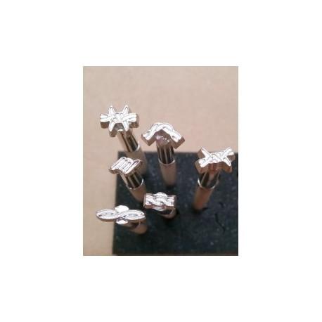 Set 6 Estampadores Espinos. Ref 26657