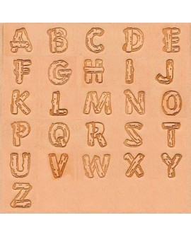 """Alfabeto 8138 3/4"""" Pulgadas (1,91 cm.)"""