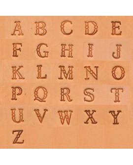 """Alfabeto 4907 3/8"""" Pulgadas (1 cm.)"""