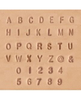 Alfabeto y Números 8137-10 1/8 Pulgadas (0,32 cm.)