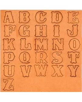 """Alfabeto 8132 IV 1"""" Pulgada (2,5 cm.)"""