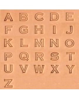 """Alfabeto 8143-00. 1/2"""" Pulgada (1,3 cm)"""