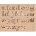 "Alfabeto Minúscula 8130-02 1/2"" Pulgada (1,3 cm)"