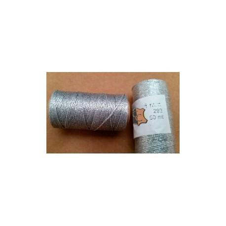 Hilo Encerado Mini 1 mm 50mt. Metalizado PLATA