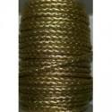 Tireta Piel Trenzada Redonda 3mm 4 Cabos. Dorado