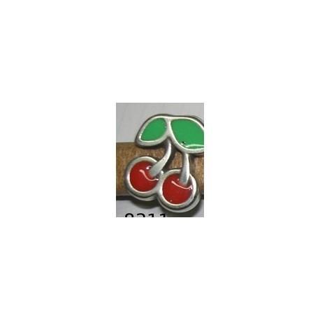 Adorno Ovalado 10x6 Cerezas 8311 PF