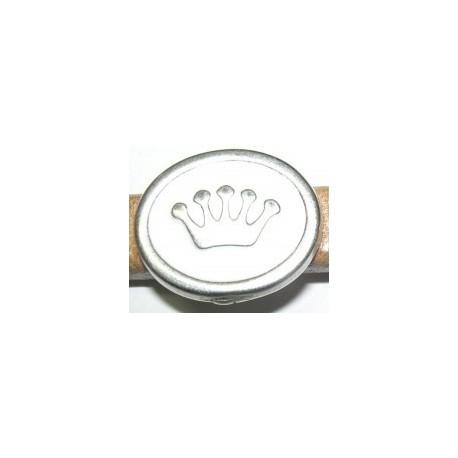 Adorno Ovalado 10x6 Corona Blanca 8318 PF