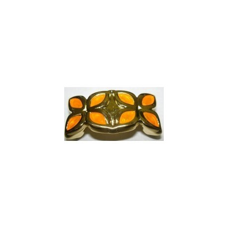 Adorno Ovalado 10x6 Oro Naranja 35 mm 8328 PF