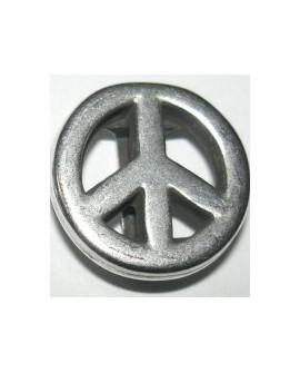 Adorno Pulsera Pase 10mm Símbolo Paz 8394PF