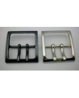 Hebilla de Cinturón 2 Pinchos Cuadrada 40 mm.