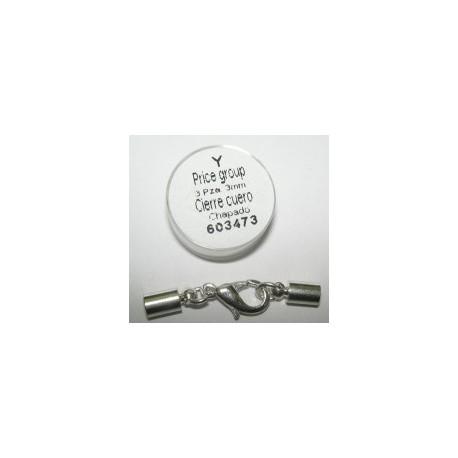Cierre Cuero Chapado 3mm. Rf 603473