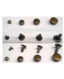 Remaches para cuero de doble cabeza 11x11mm