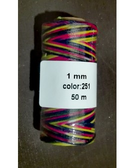 Bobina Hilo Encerado Mini 1 mm 50 mt. Multicolor 251