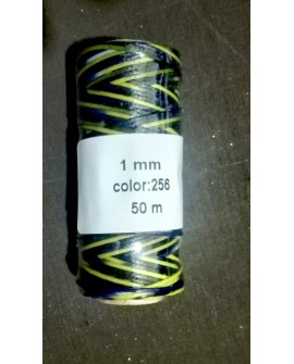 Bobina Hilo Encerado Mini 1 mm 50 mt. Multicolor 256