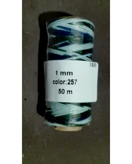 Bobina Hilo Encerado Mini 1 mm 50 mt. Multicolor 257