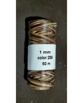 Bobina Hilo Encerado Mini 1 mm 50 mt. Multicolor 259