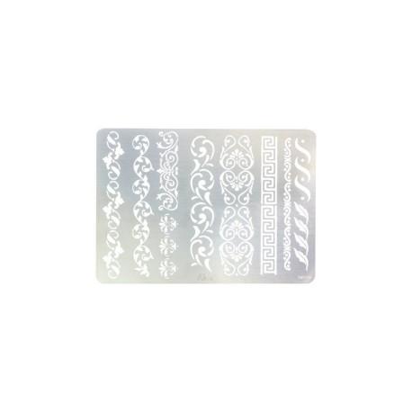 PLANTILLA ACERO INOXIDABLE ESPECIAL PARA PIROGRAFO 3601-06