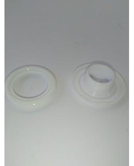 OLLAO Y ARANDELA INTERIOR 12mm (BLANCO) BOLSA DE 1000