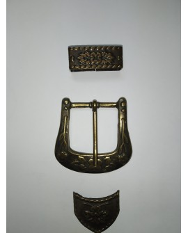 HEBILLA TEJANA (oro viejo) 25mm.