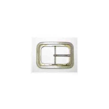 Hebilla Cinturón de 40 mm Cuadrada Níquel. Ref 9837