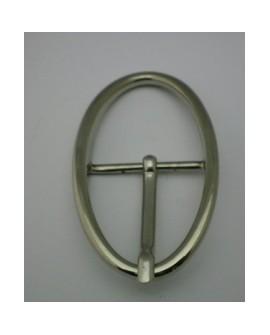 Hebilla Cinturón de 40 mm Ovalada Níquel. Ref 9841