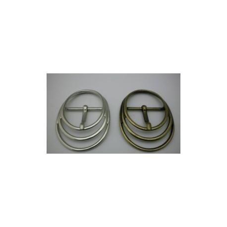 Hebilla Cinturón de 40 mm Círculos. Ref 9847