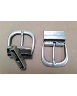 Hebilla para Cinturón Reversible 4 cm. Plata Vieja