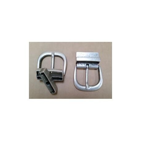 verdadero negocio liquidación de venta caliente amplia selección de colores Hebilla para Cinturón Reversible 4 cm. Plata Vieja