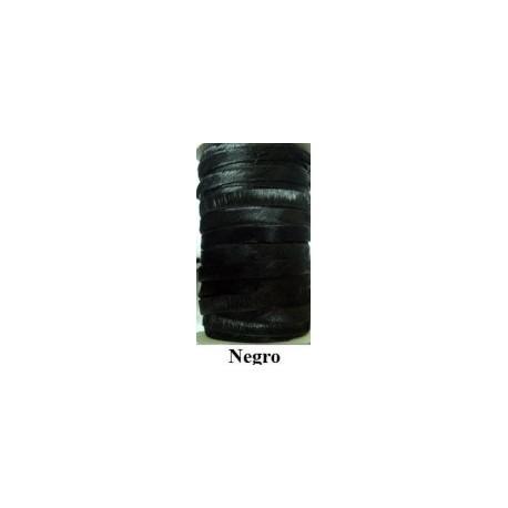 Tireta Plana de Pelo de Potro Auténtico 10 mm. NEGRO. Ref 20712