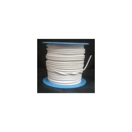 Rollo 25 mts. Cordón Cuero Nacional 2 mm. BLANCO. Ref 20754