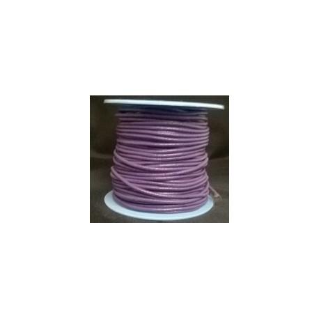 Rollo 25 mts. Cordón Cuero Nacional 2 mm. MORADO. Ref 20759