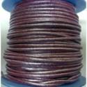 Rollo 25 mts. Cordón Cuero Nacional 2 mm. ESPECIAL ROJO. Ref 20777