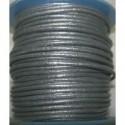 Rollo 25 mts. Cordón Cuero Nacional 2 mm. ESPECIAL GRIS. Ref 20779