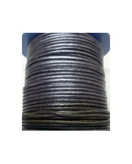 Rollo 25 mts. Cordón Cuero Nacional 2 mm. ESPECIAL MORADO. Ref 20780