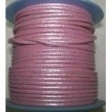 Rollo 25 mts. Cordón Cuero Nacional 2 mm. ESPECIAL ROSA. Ref 20785