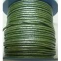 Rollo 25 mts. Cordón Cuero Nacional 2 mm. ESPECIAL PRADERA. Ref 20788