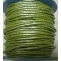 Rollo 25 mts. Cordón Cuero Nacional 2 mm. ESPECIAL PISTACHO. Ref 20789