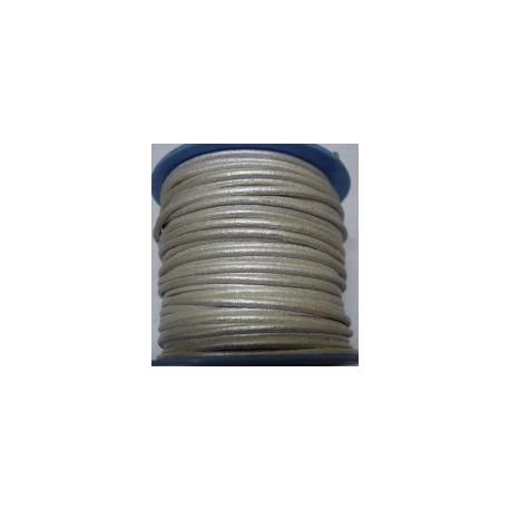 Rollo 25 mts. Cordón Cuero Nacional 2 mm. ESPECIAL P.CLARA. Ref 20790