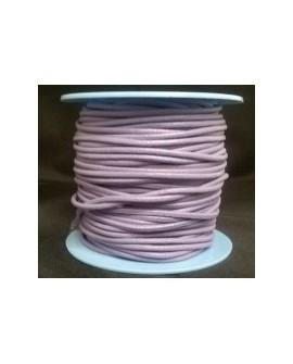 Rollo 25 mts. Cordón Cuero Nacional 2,5 mm. LILA. Ref 20797