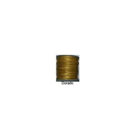 Rollo 25 mts. Cordón Cuero Nacional 2,5 mm. ESPECIAL DORADO. Ref 20815