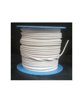 Rollo 25 mts. Cordón Cuero Nacional 3,5 mm. BLANCO. Ref 20844